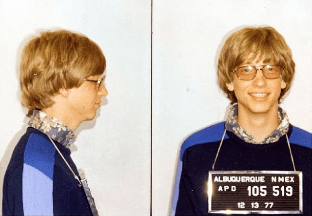 Bill Gates mugshot 1977
