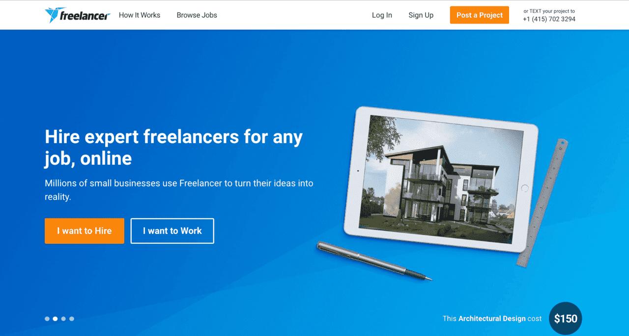 freelancer.com screenshot