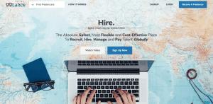 Freelance programming platform golance.com's homepage