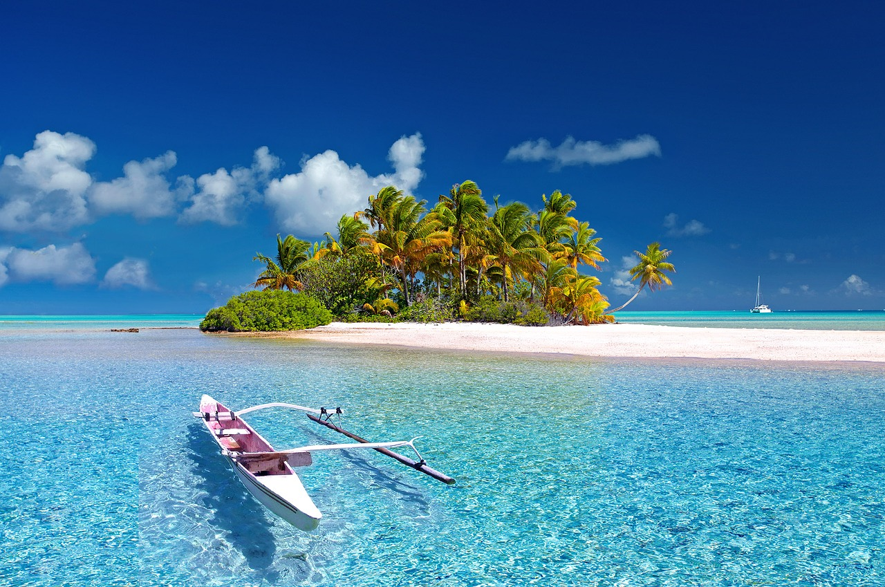 A picture of a paradise island