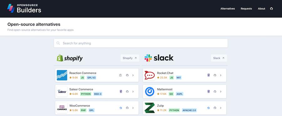 Open Source Builders website